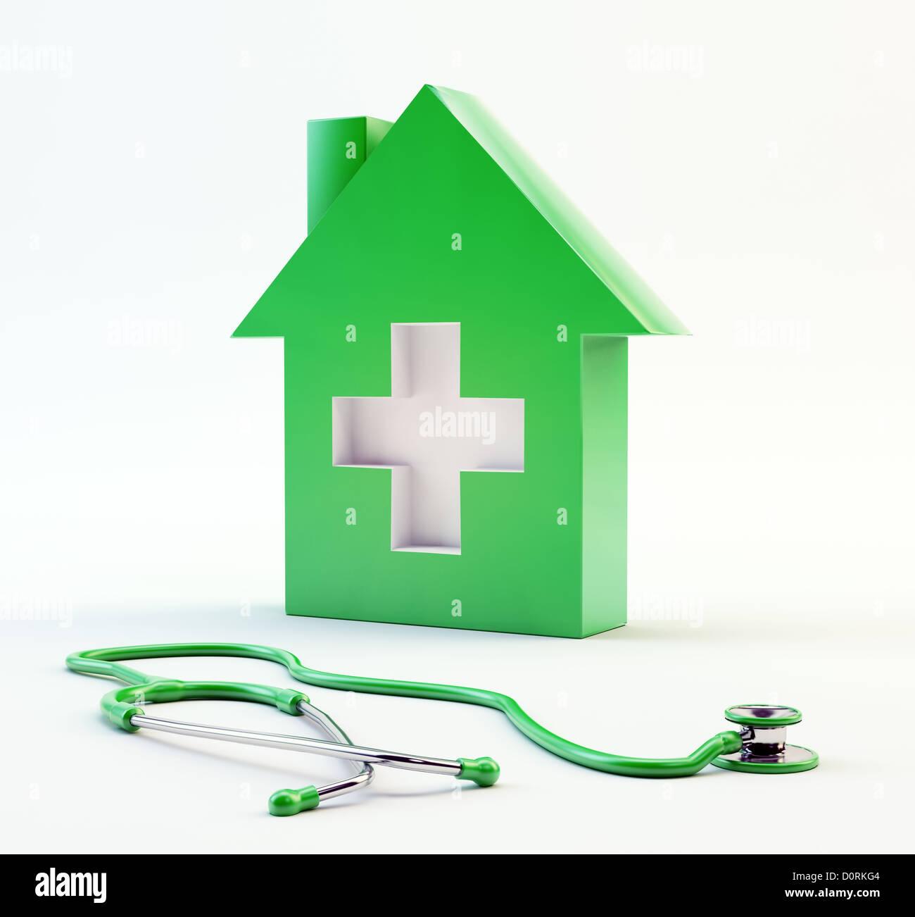 Domestic healthcare symbol - Stock Image