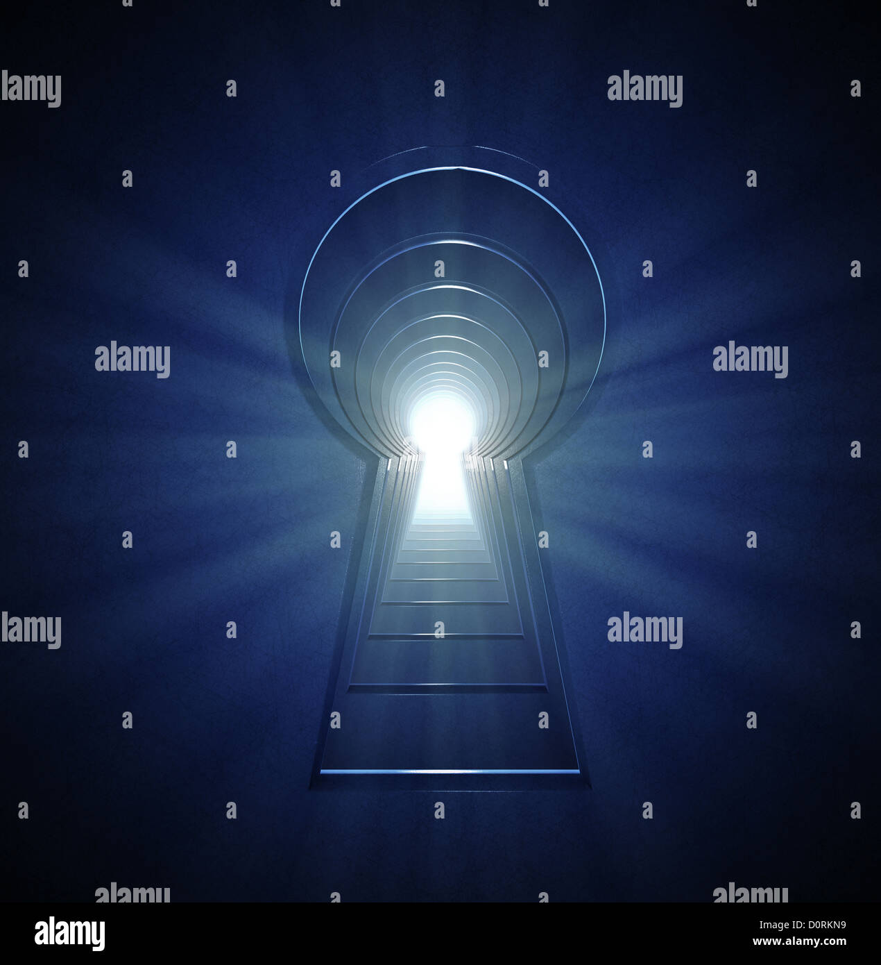 endless line of keyhole - Stock Image