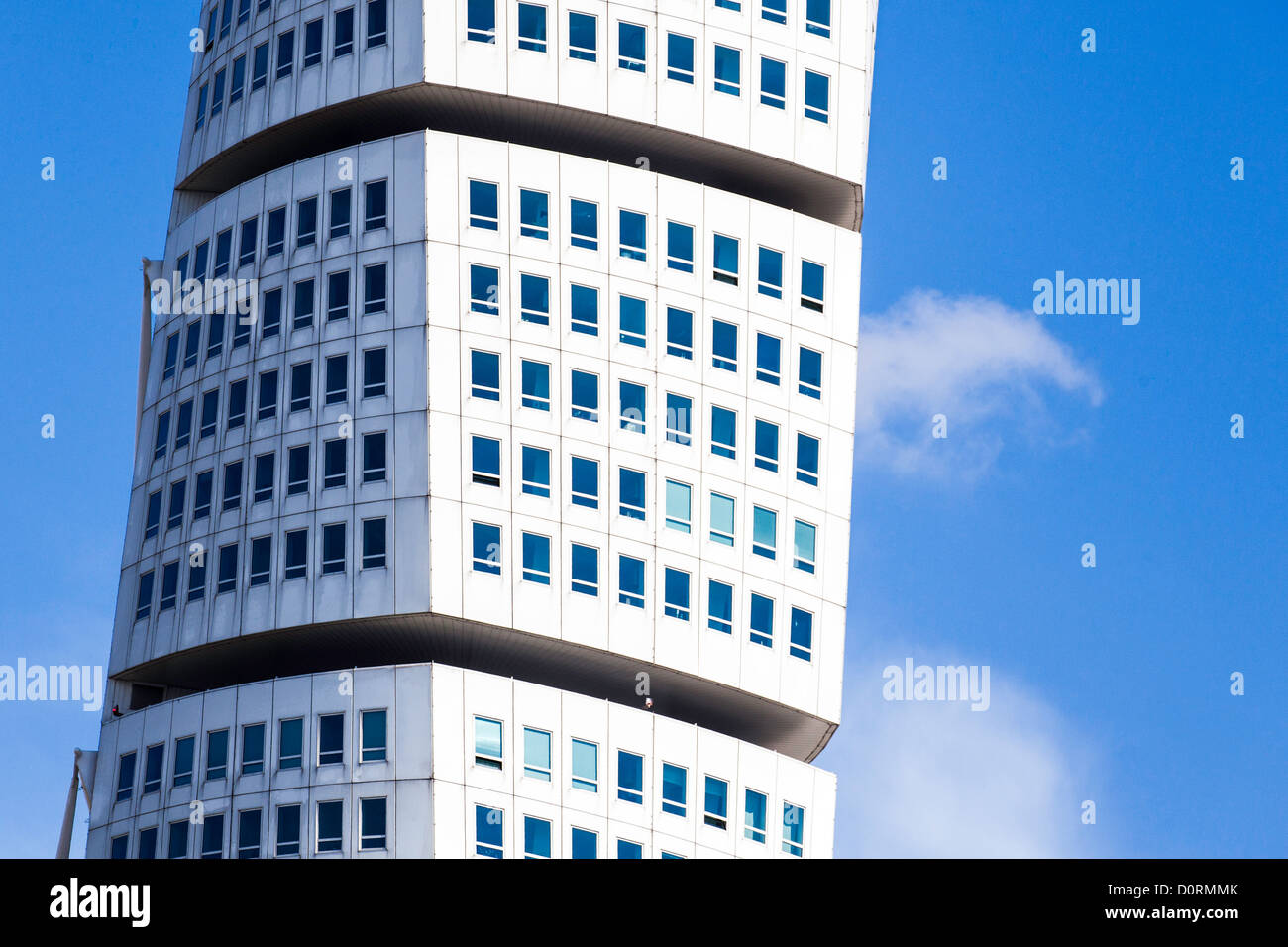 spectacular house with flats outside the swedish town malmoe. - Stock Image