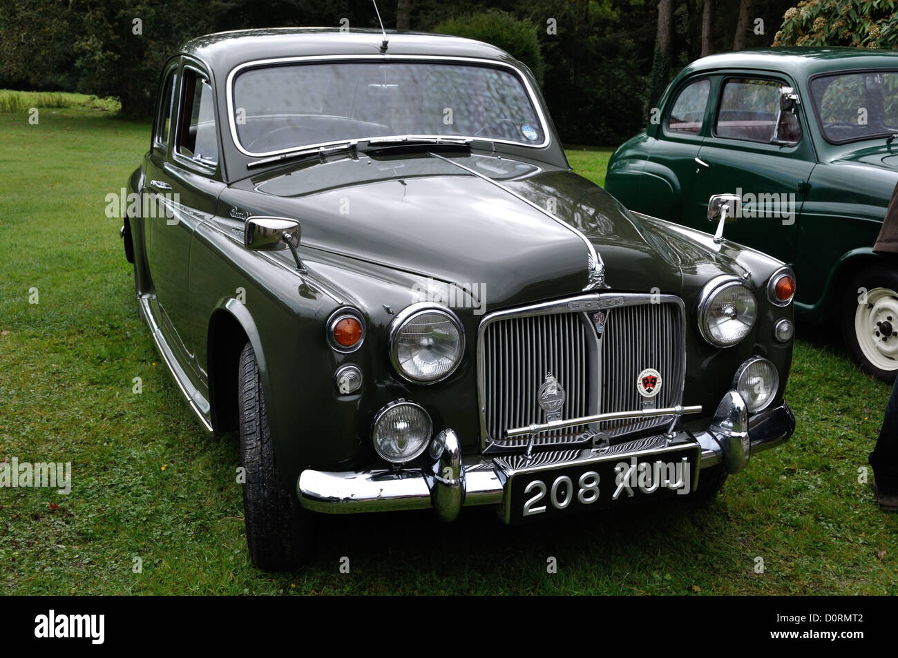 Rover P90 at classic car show rally rhos y gilwen mansion pembrokeshire wales - Stock Image