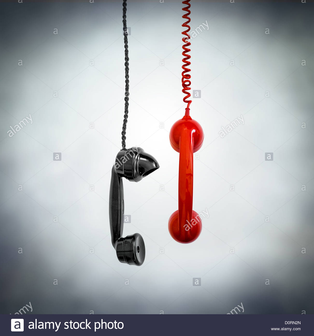 black and red phone - Stock Image