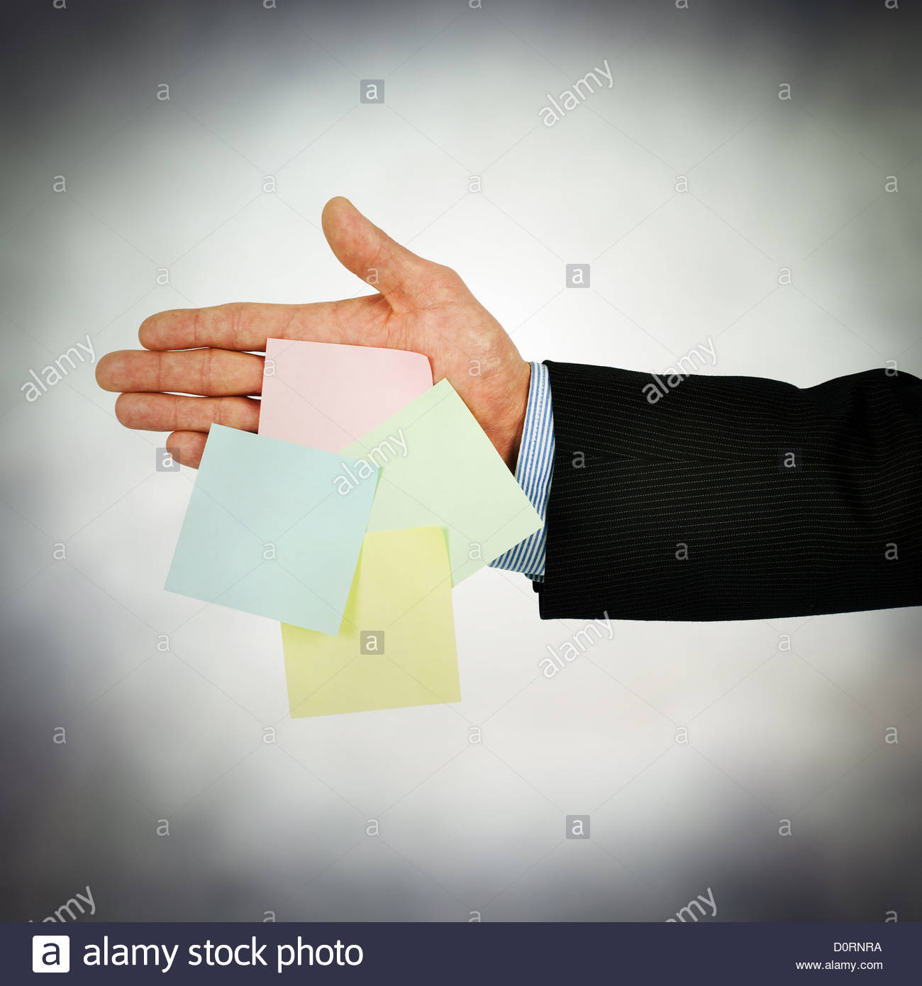 reminder notes - Stock Image