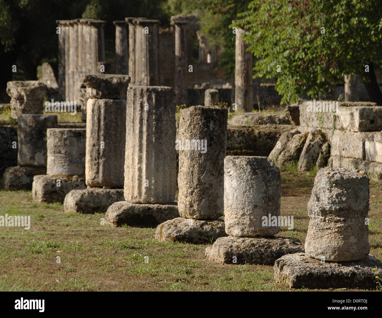 Greece. Peloponesse. Olympia. Santuary of ancient Greece in Elis. Gymnasium (2rd century BC). Hellenistic Period. - Stock Image