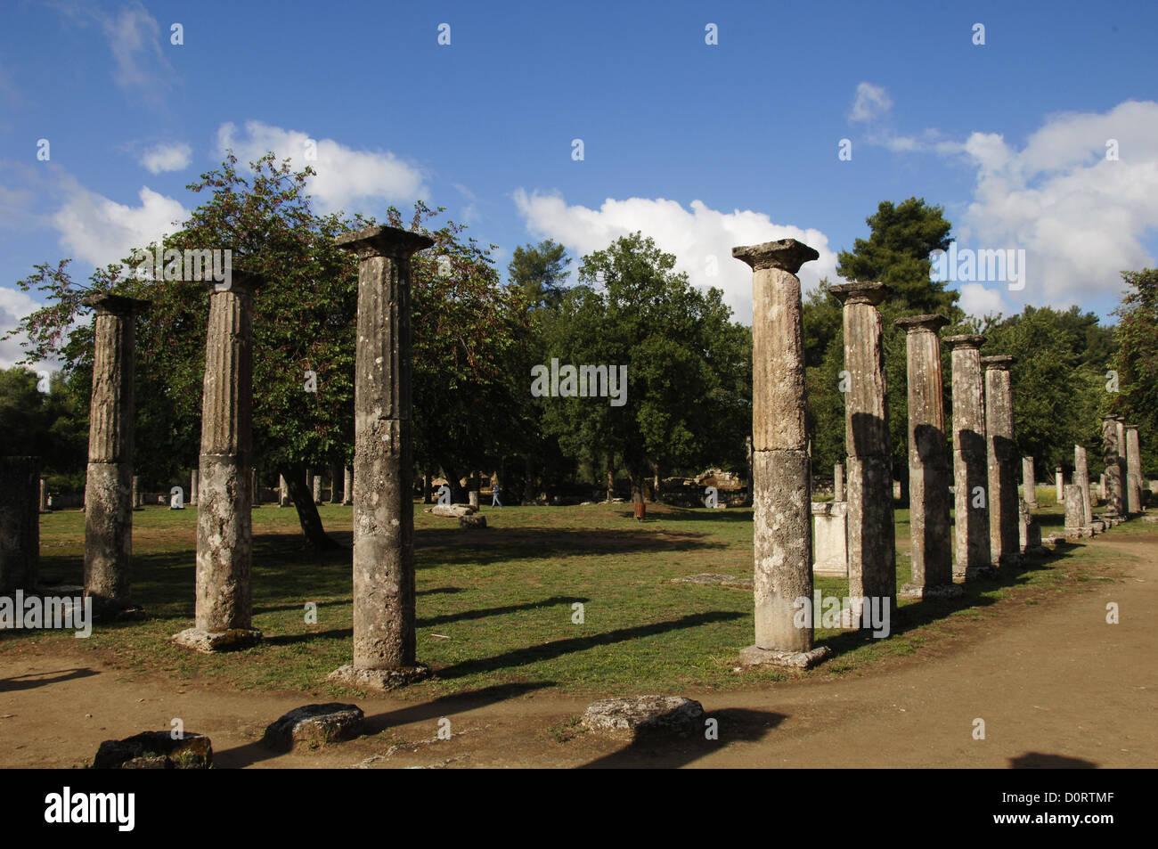 Greece. Peloponesse. Olympia. Santuary of ancient Greece in Elis. Palaestra (3rd century BC). Hellenistic Period. - Stock Image