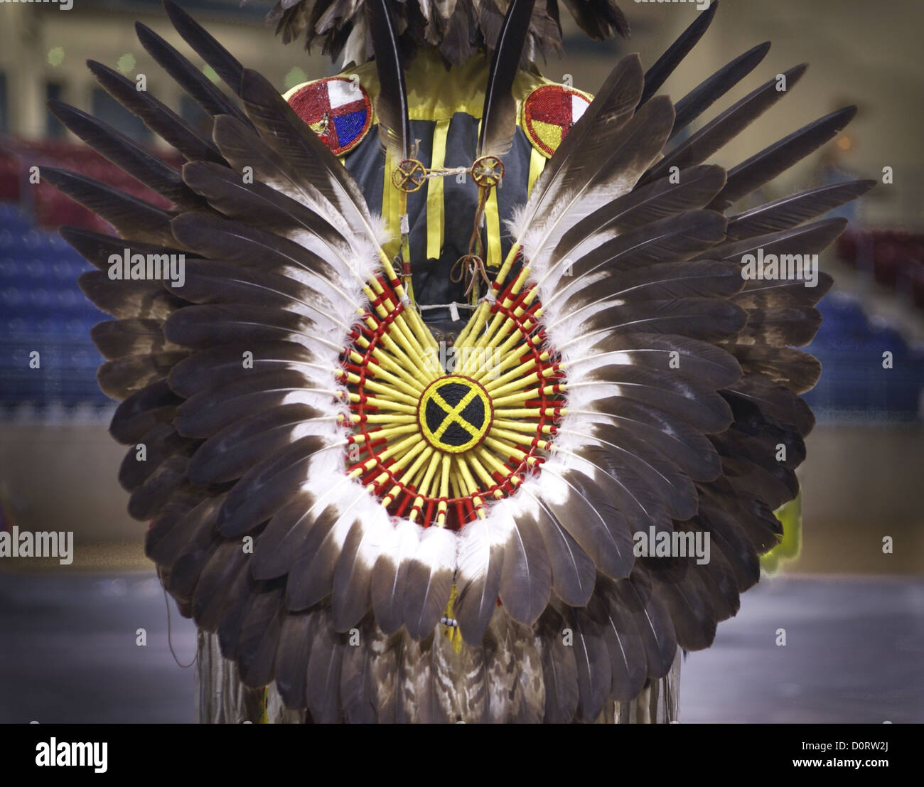 American Indian Feather Bustle - Stock Image