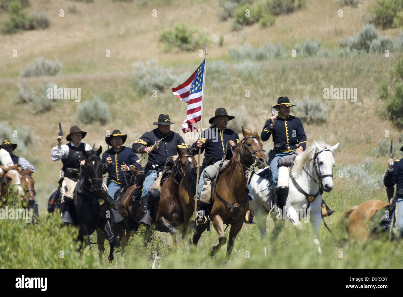 Charge of the US Cavalry - Stock Image