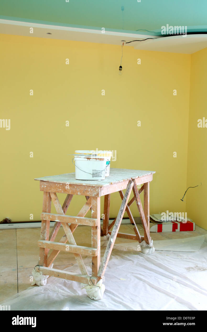 home interior renovation - Stock Image