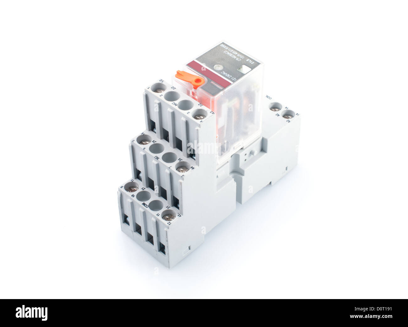 Electrical Relay Switch Stock Photos Circuit Electric Switching Isolated On White Image