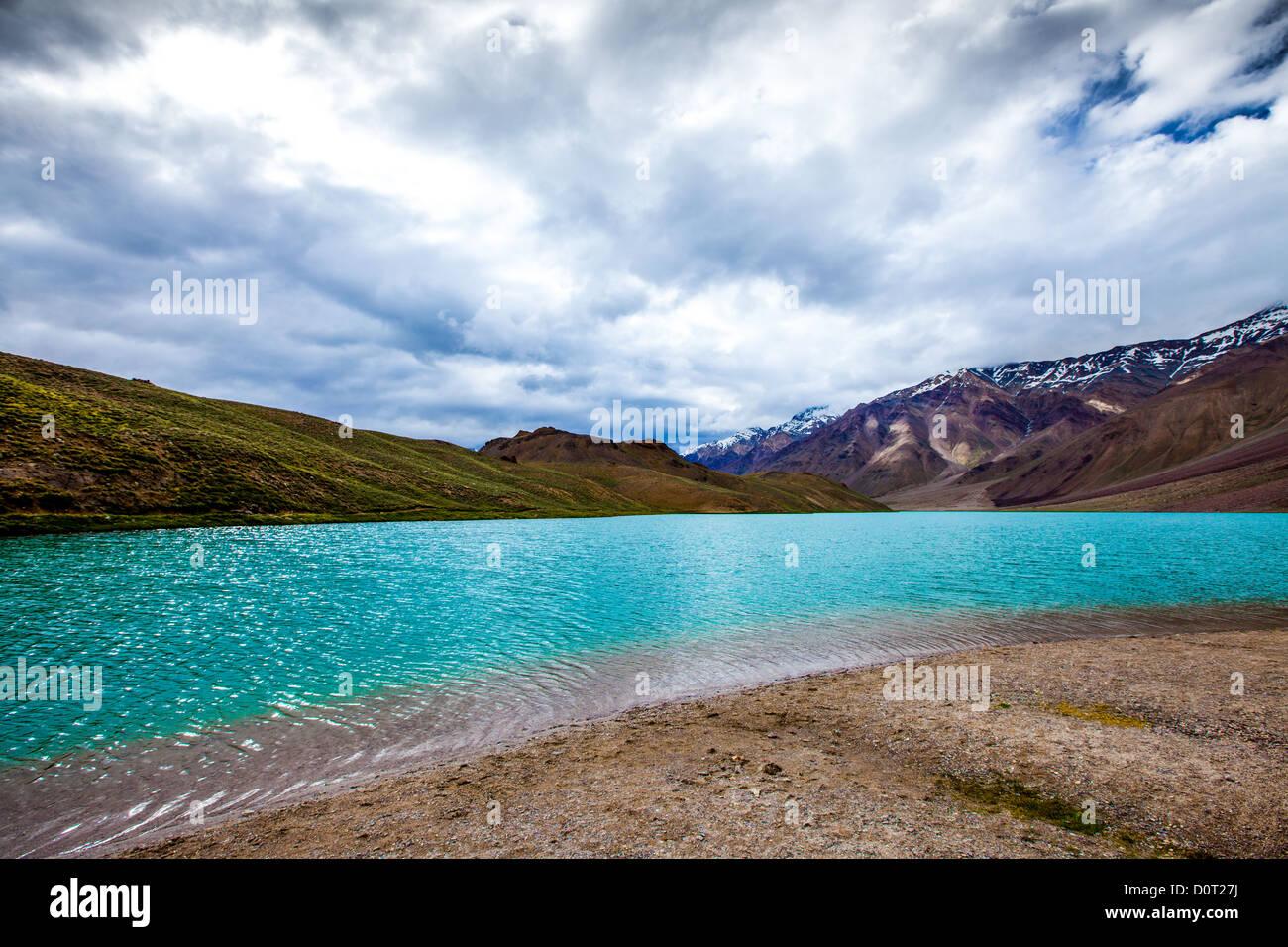 lake Chandra Taal, Spiti Valley - Stock Image