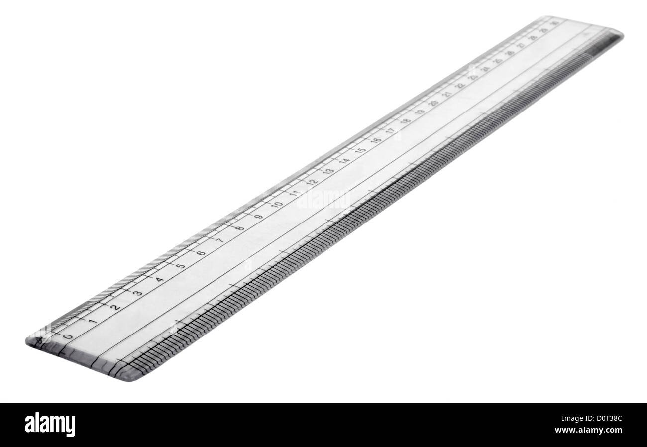 Close-up of a ruler - Stock Image
