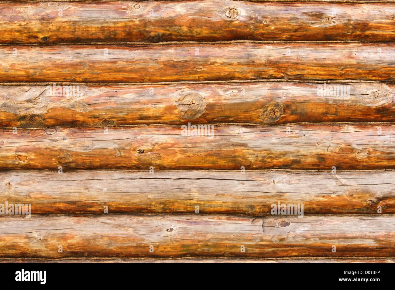 Rustic Pine Log Cabin Wall Stock Photo Alamy
