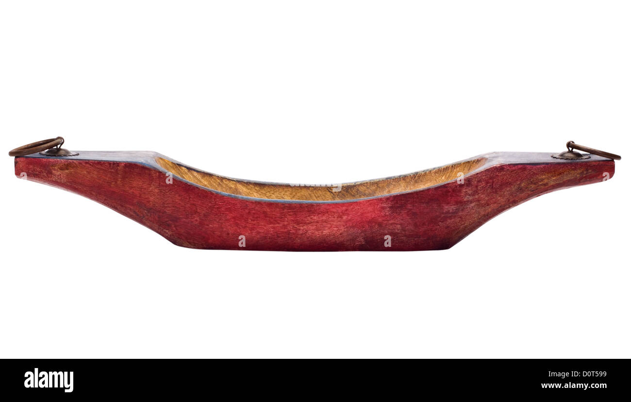 Close-up of a boat shaped showpiece - Stock Image