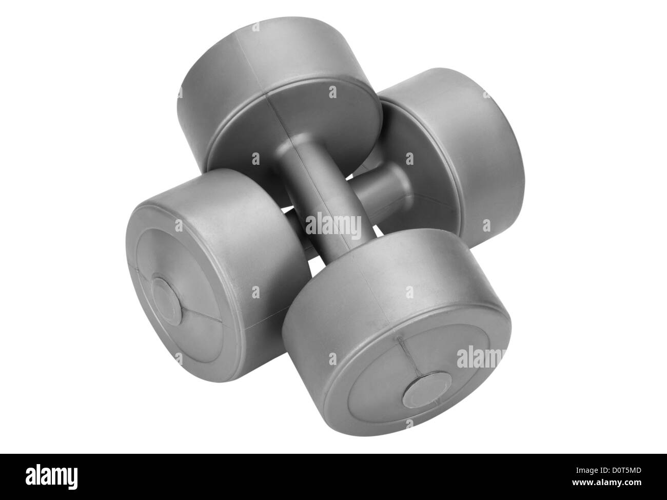 Close-up of dumbbells - Stock Image
