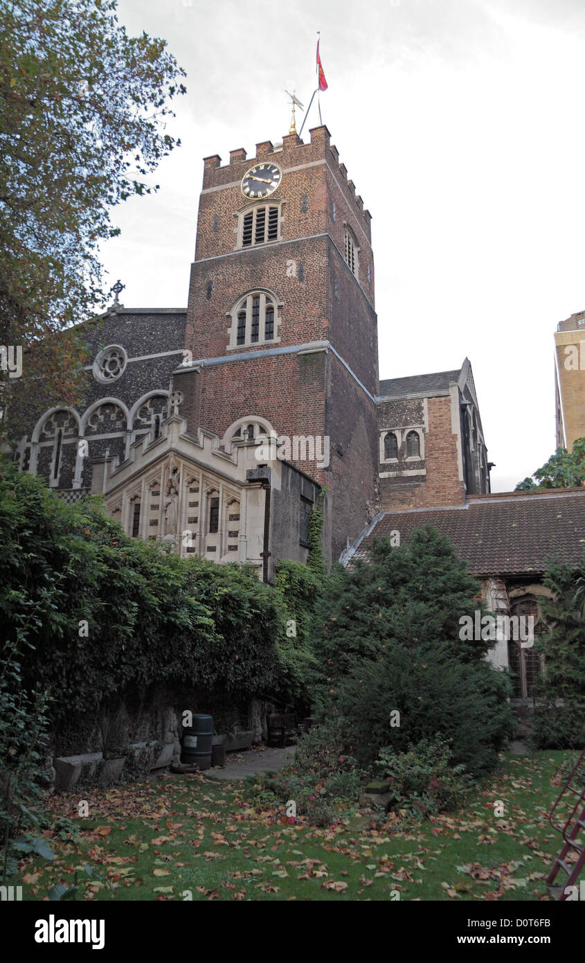 The Priory Church of Saint Bartholomew the Great in the City of London, UK. - Stock Image