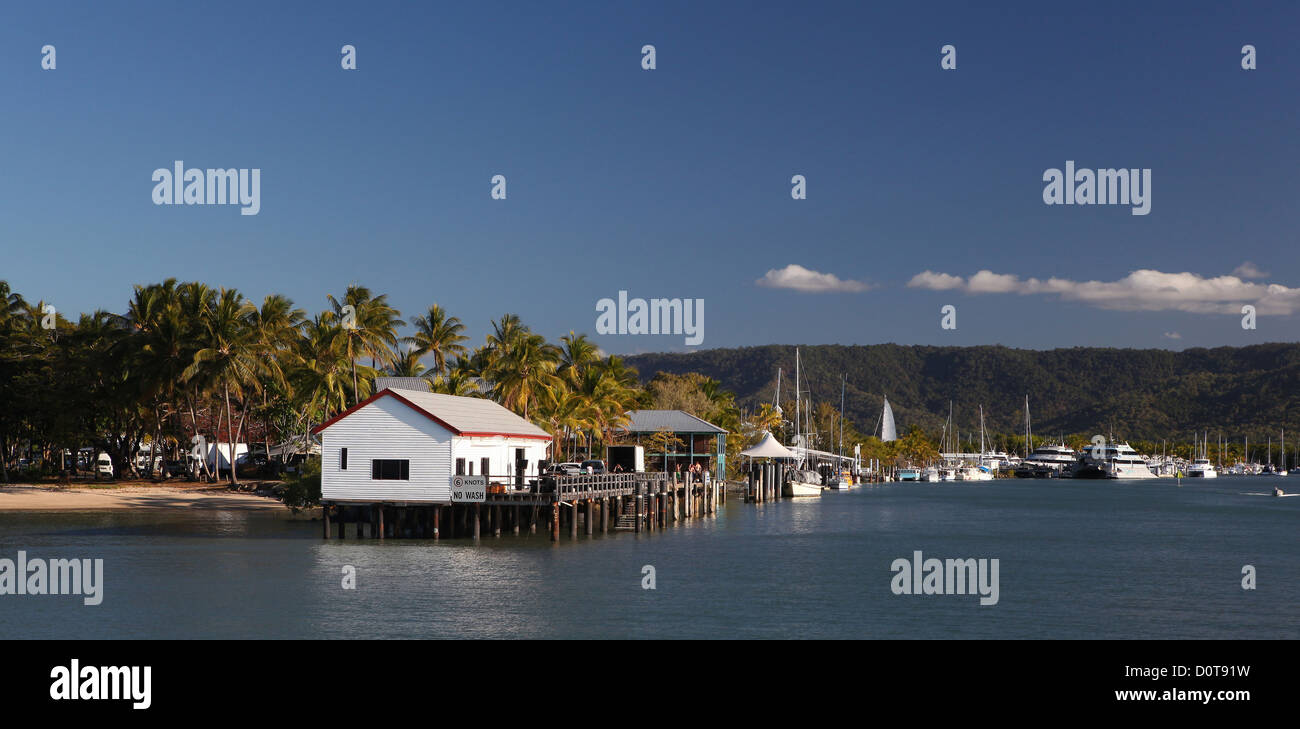 Harbour, Port, port Douglas, Queensland, Australia, rest, are relaxing, vacation, holidays, take it easy, relax, - Stock Image