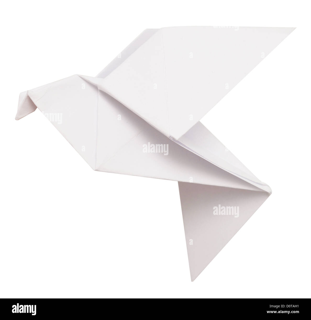 Origami Dove Isolated On White