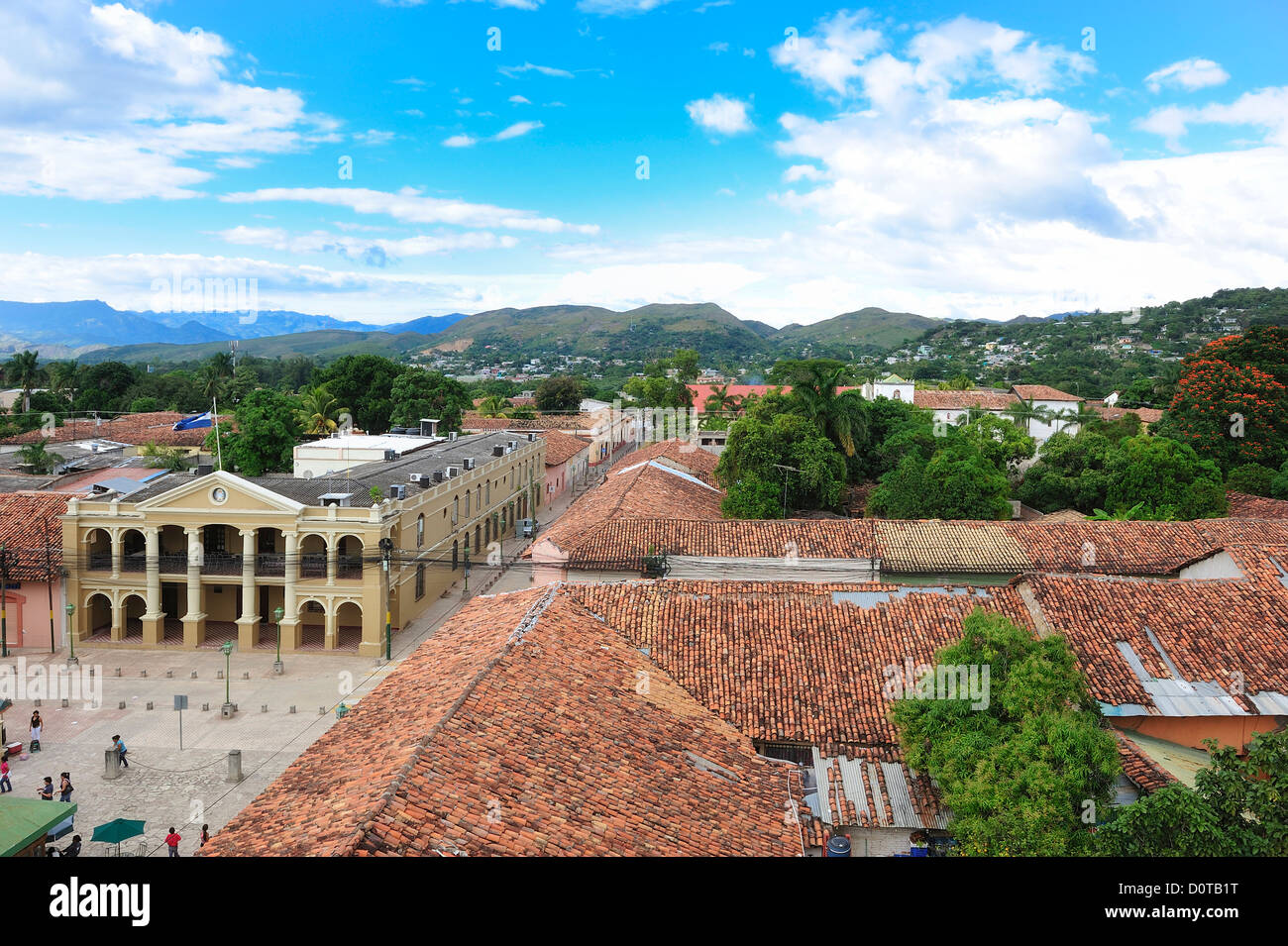 view, Comayagua, town, Central America, Honduras, roofs Stock Photo