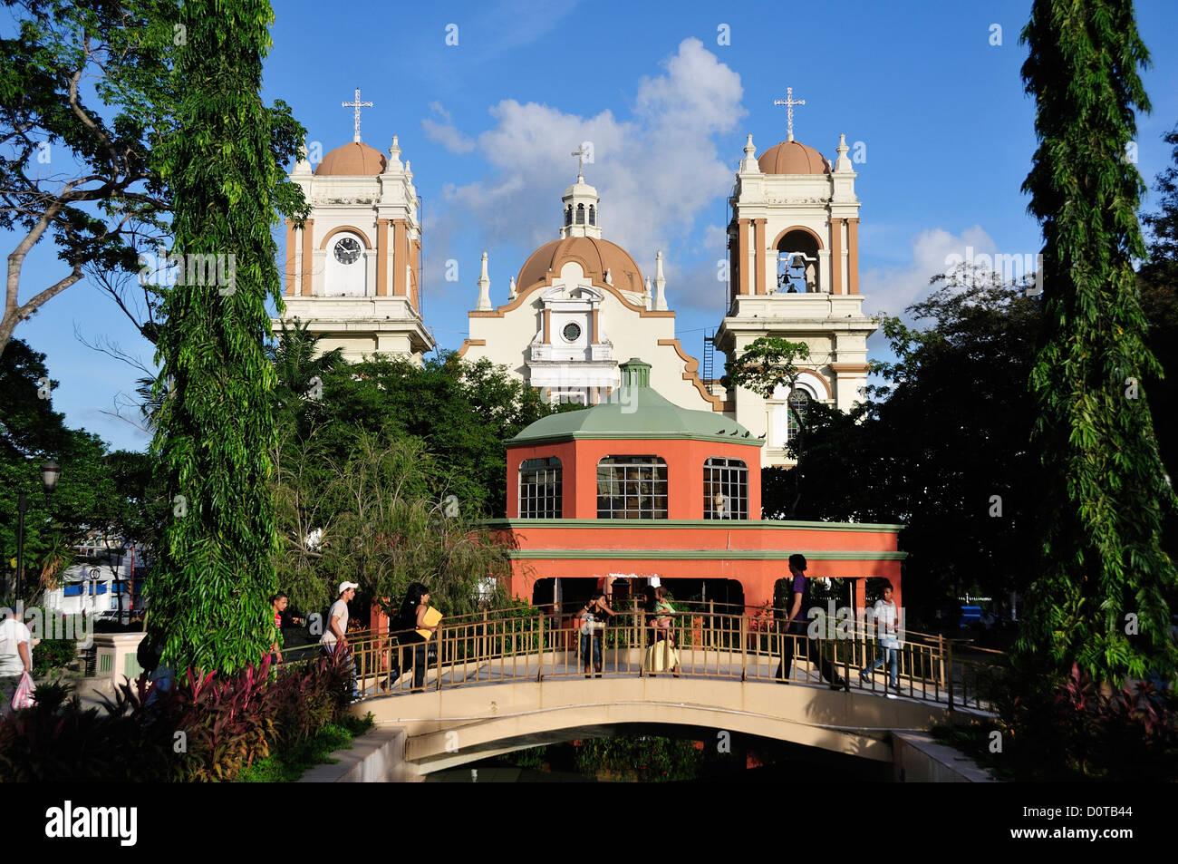 San Pedro Sula, Parque Central, Cathedral, church, Central America, Honduras, Stock Photo