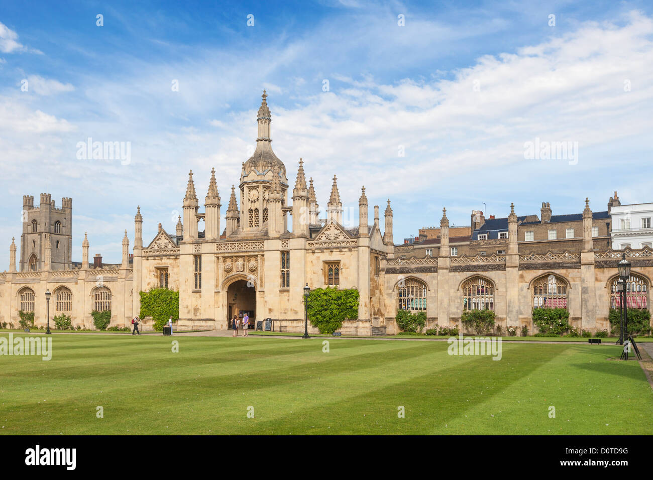 King's college gatehouse viewed from the front court, Cambridge, England - Stock Image