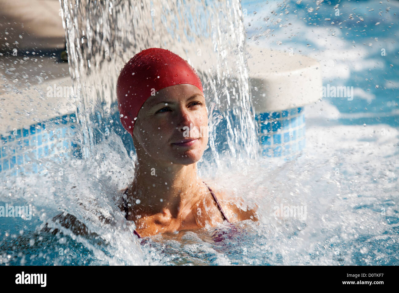 Young lady in a spa Hotel Finca Eslava Antequera Malaga Andalusia Spain Stock Photo