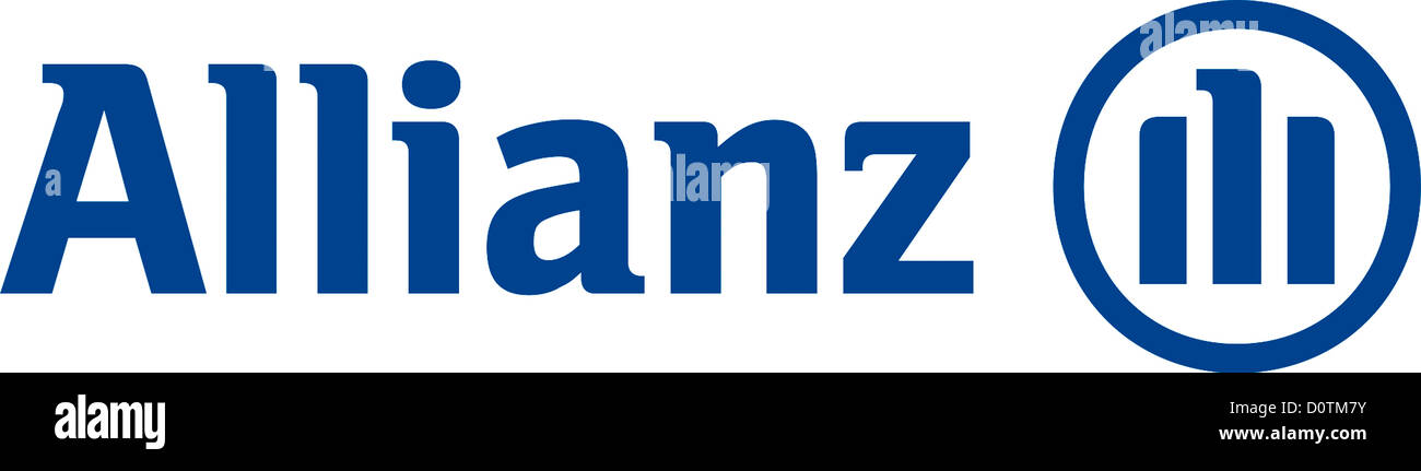 Logo of German insurance and financial services company Allianz with seat in Munich. Stock Photo