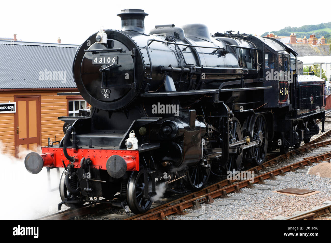 Ivatt class 4 number 43106 Steam Locomotive seen on the West Somerset Railway Stock Photo