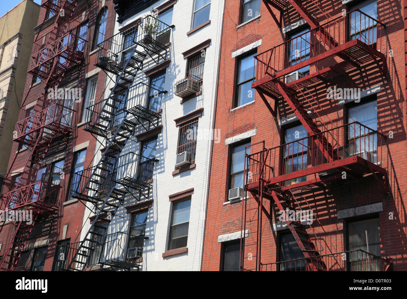 city building side. Tenement Buildings  Lower East Side Manhattan New York City USA
