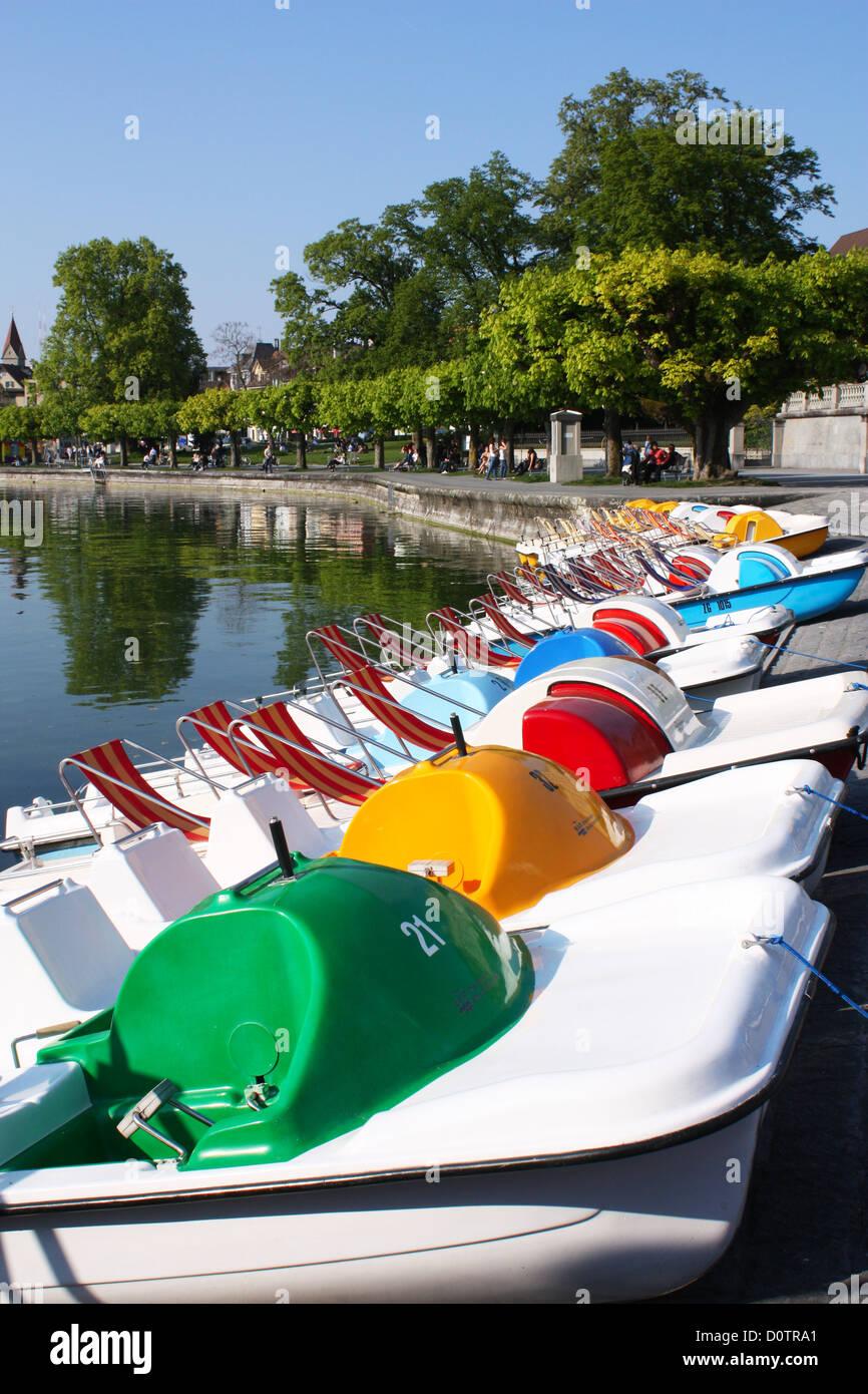 Zug lake in Switzerland Stock Photo