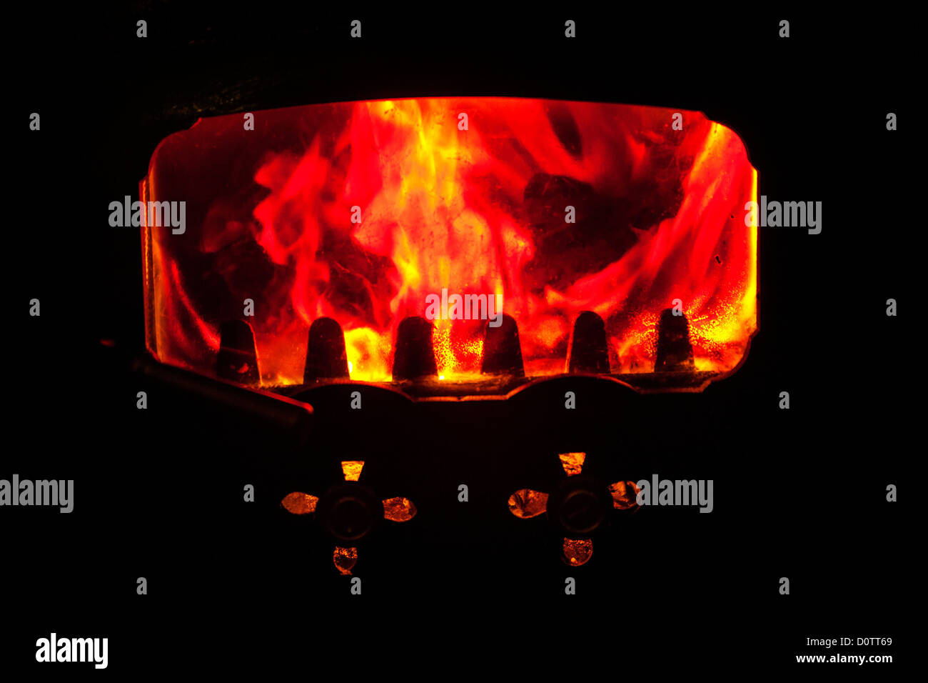Fire in a chimney fuego chimenea - Stock Image