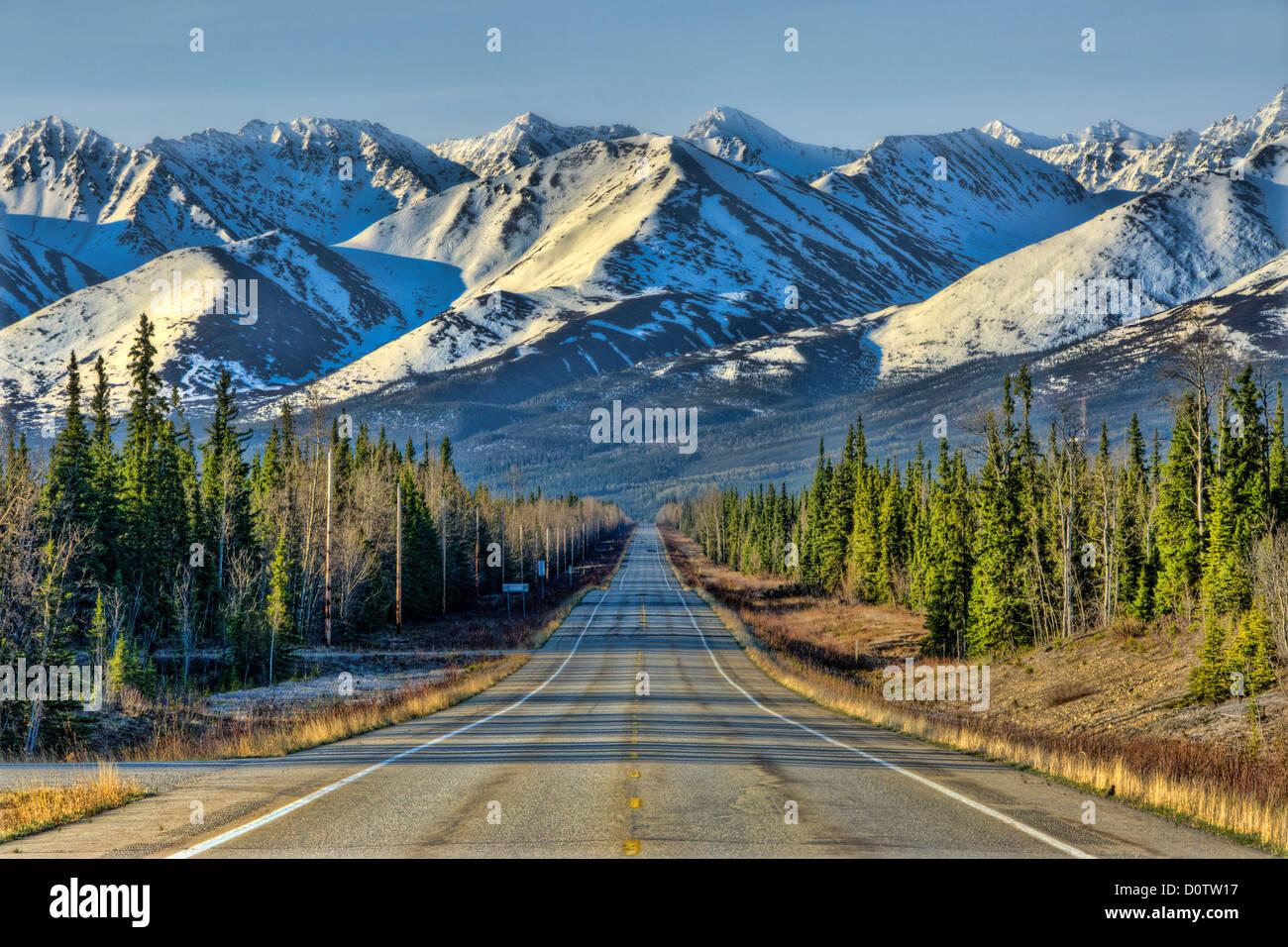 steese highway, Alaska, USA, United States, America, - Stock Image