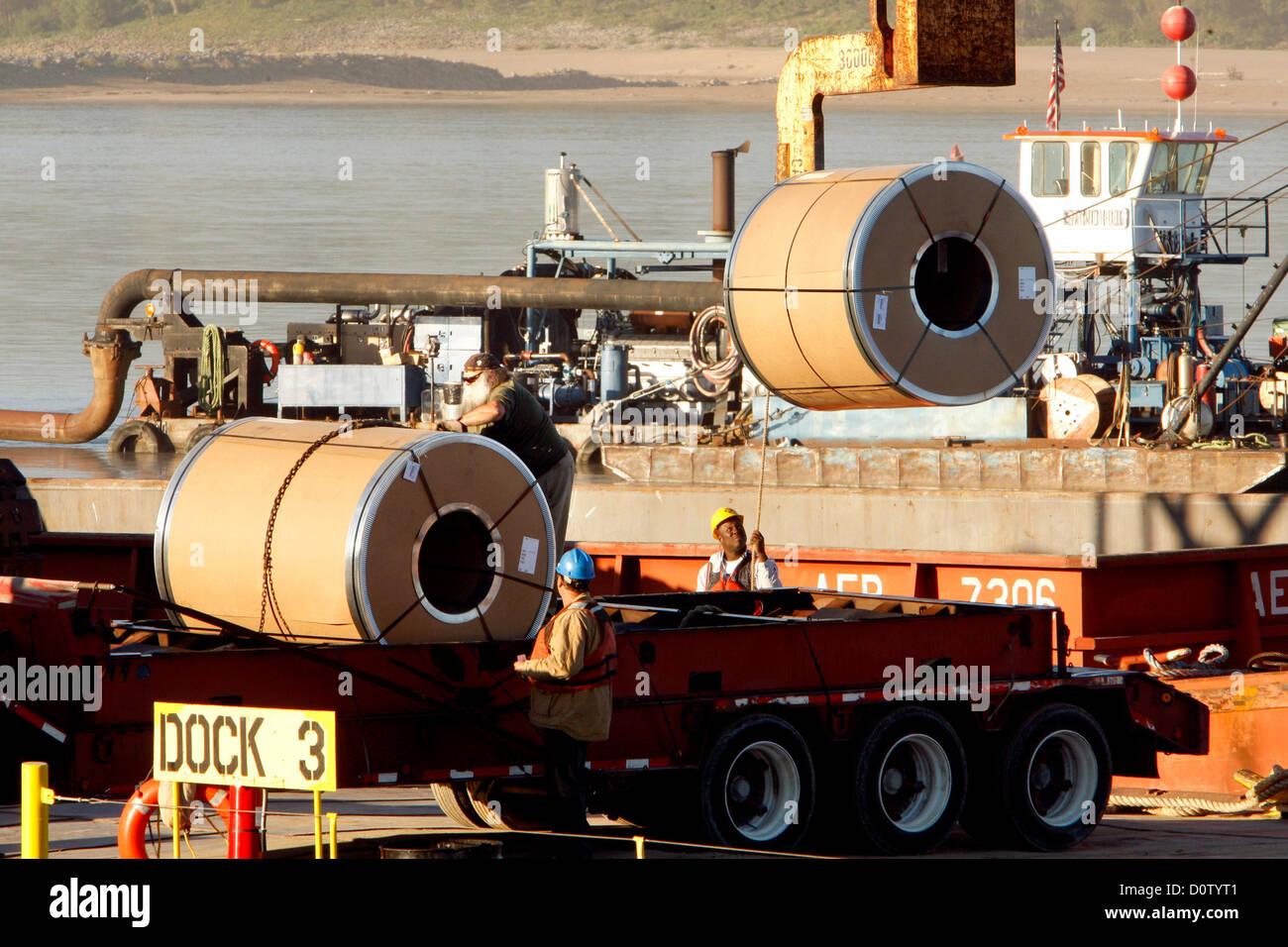 Sept. 19, 2012 - Memphis, Tennessee, U.S. - September 19, 2012 -  Fullen Dock operates six docks in Frayser where - Stock Image