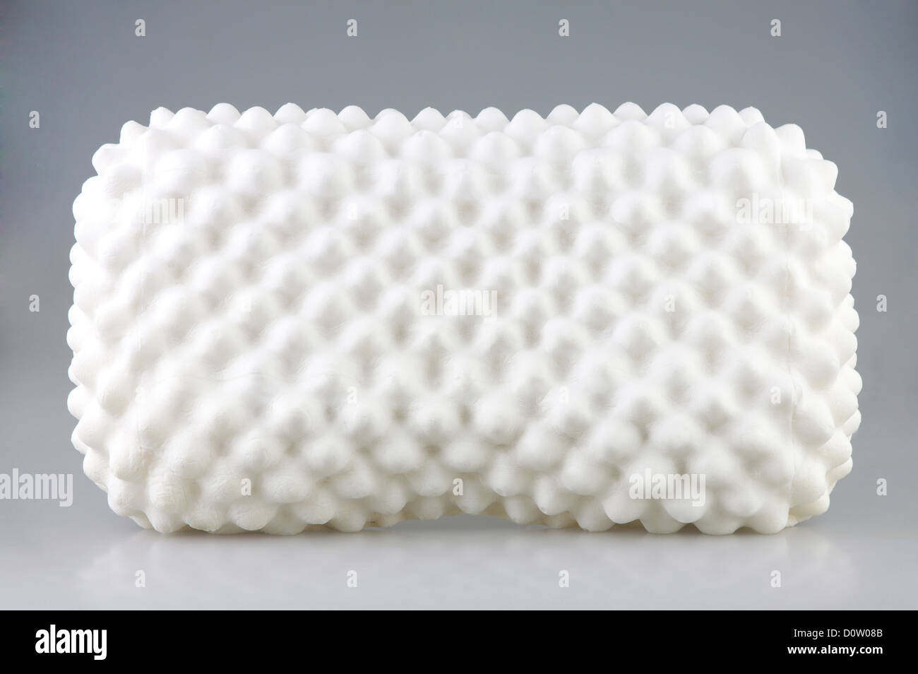 latex material inside the hygienic pillow to protects mite dust and support your neck - Stock Image