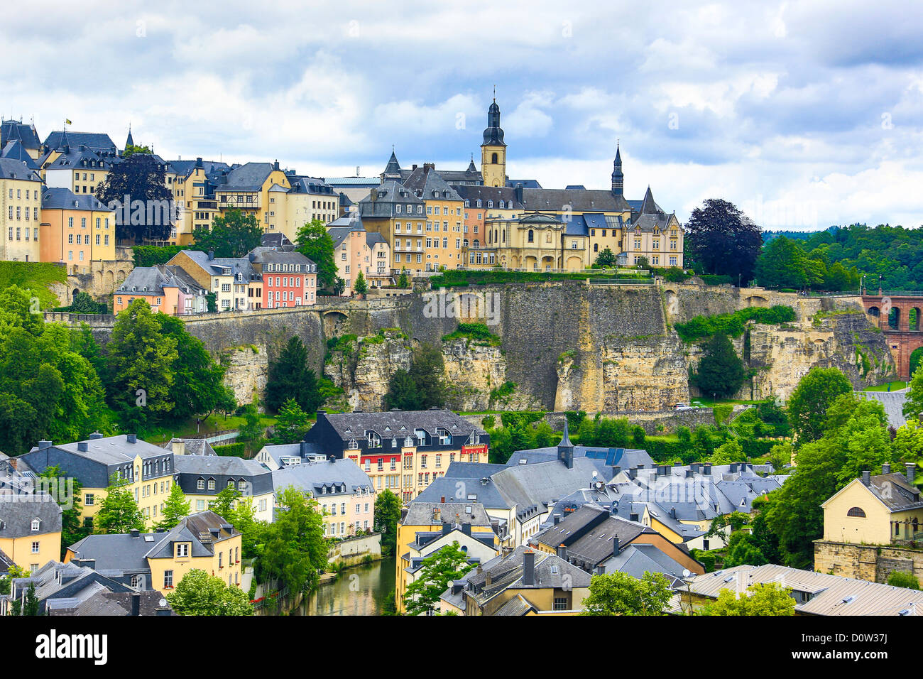 Luxemburg, Europe, travel, City, world heritage, architecture, center, city center, downtown, old town, skyline, - Stock Image