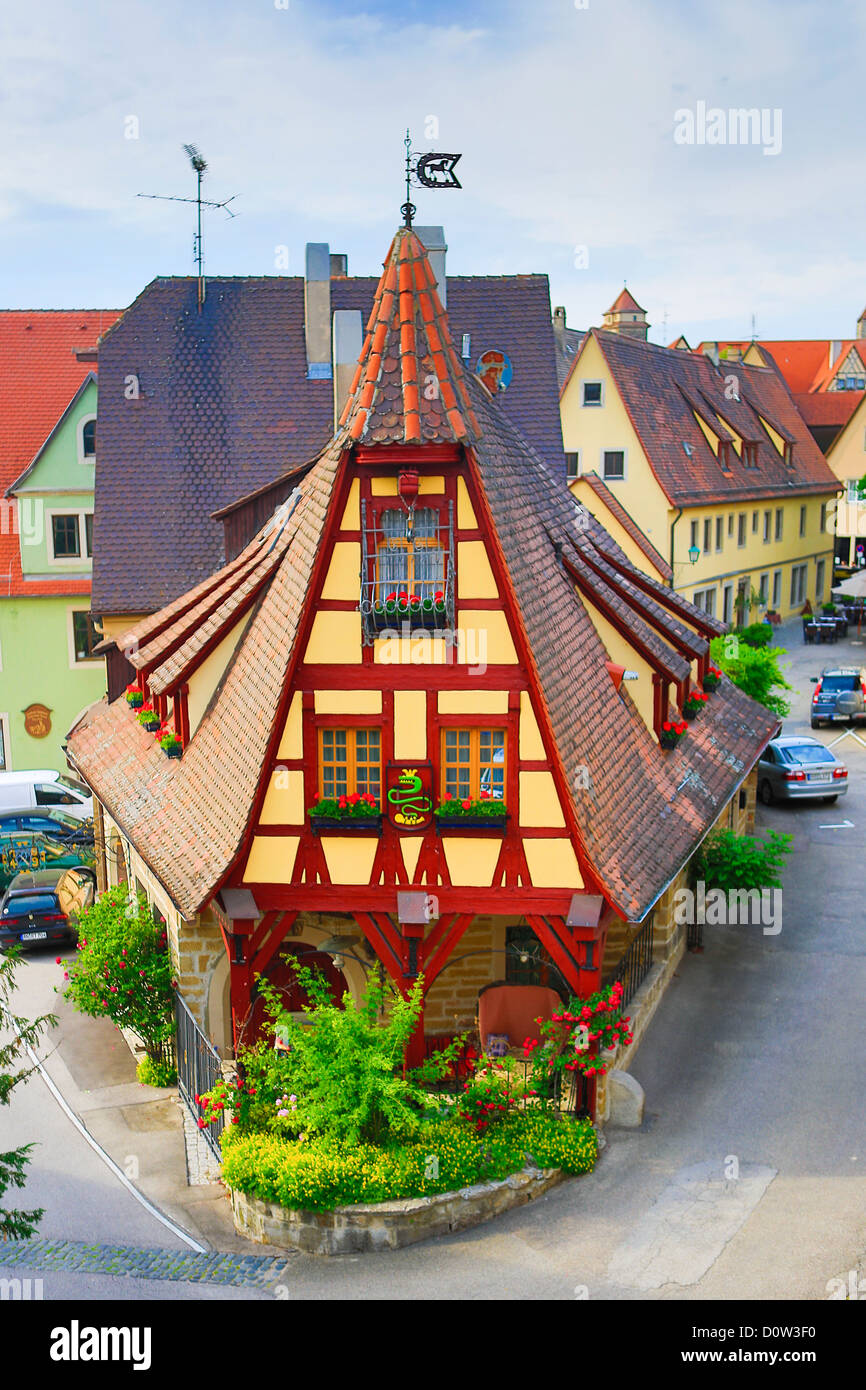 Germany, Europe, Travel, Rothenburg, Romantic Road, Alte Schmiede,  Architecture,