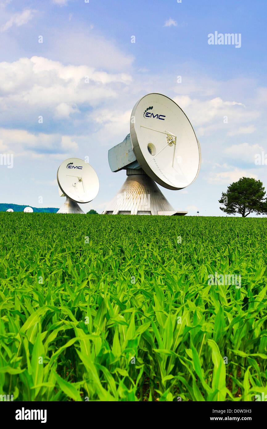 Germany, Europe, travel, antennas, architecture, Bavaria, colourful, communication, Germany, Europe, travel, information, - Stock Image