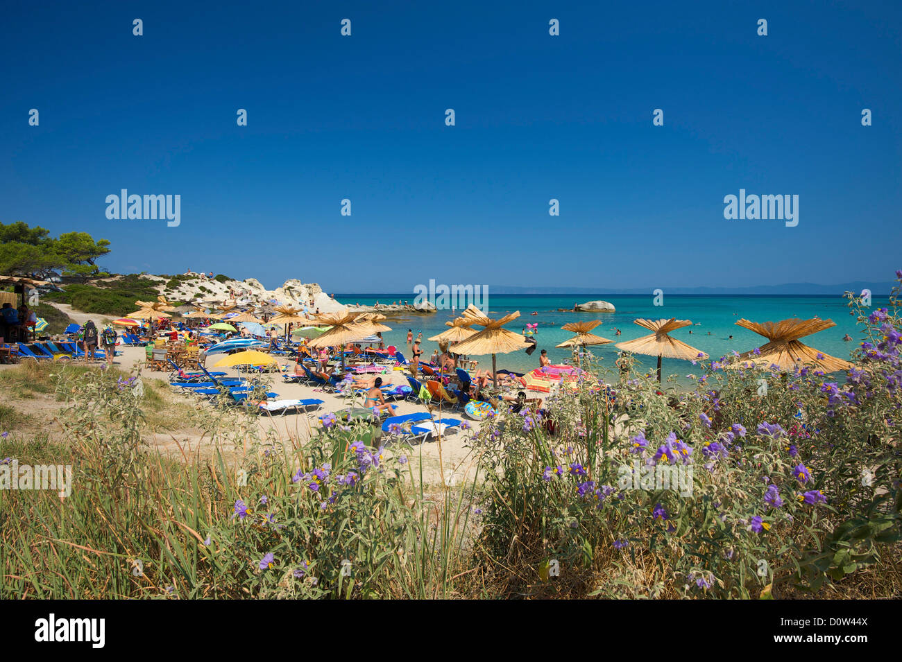 Chalkidiki, Greece, Halkidiki, Travel, vacation, Europe, European, day, Portokali Beach, Kavourotypes, Sithonia, Stock Photo