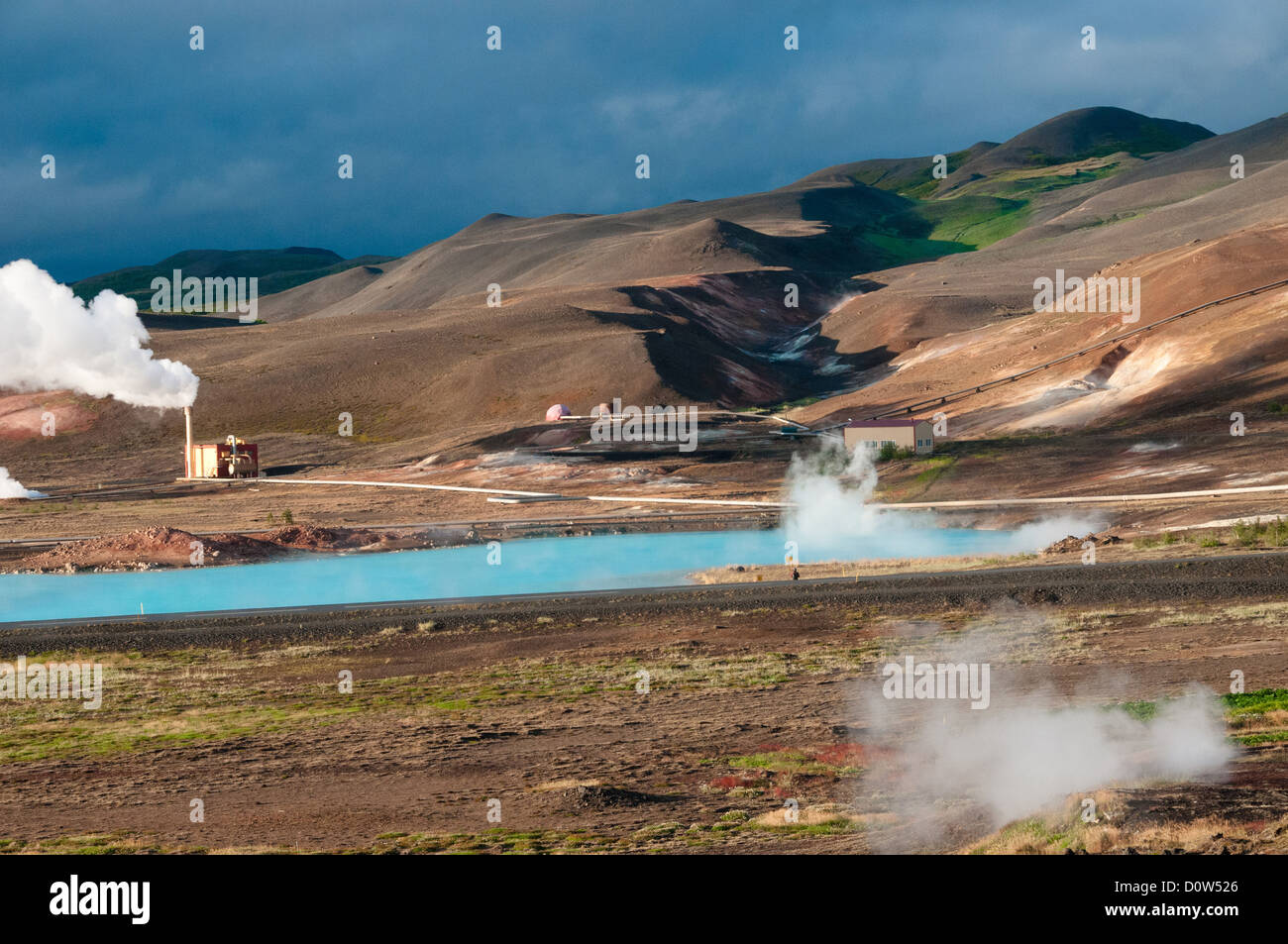 Geyser, volcanism, Geothermics, hot springs, sources, Iceland, Europe, place of interest, landmark, structure, water, - Stock Image