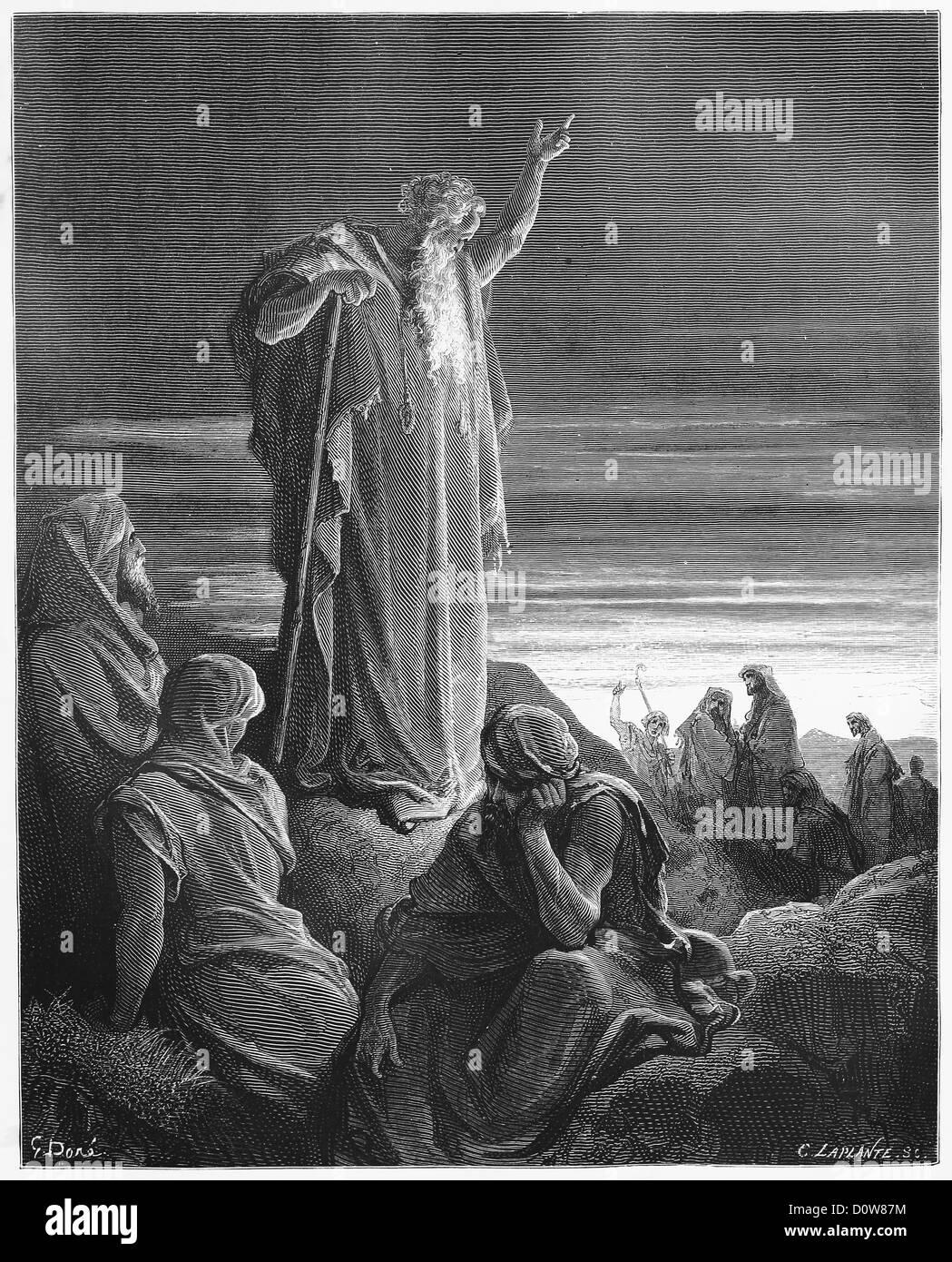 The Prophet Ezekiel - Stock Image