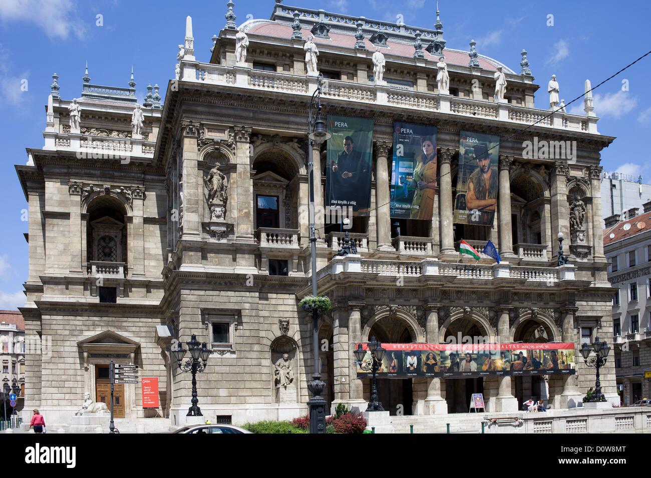 Budapest Opera House Neo-Renaissance architecture, Hungary. - Stock Image