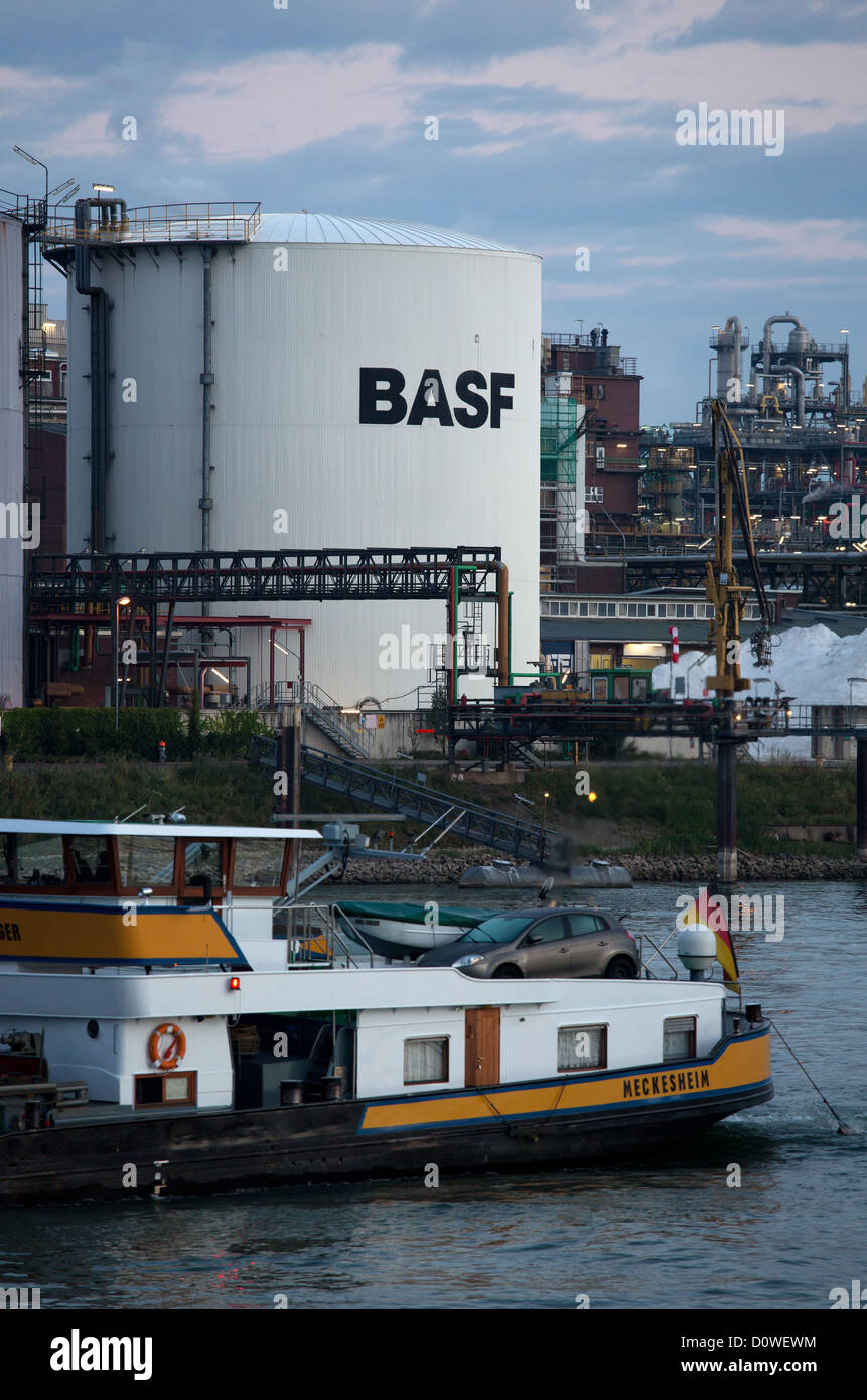 Ludwigshafen, Germany, BASF's main plant on the Rhine and a