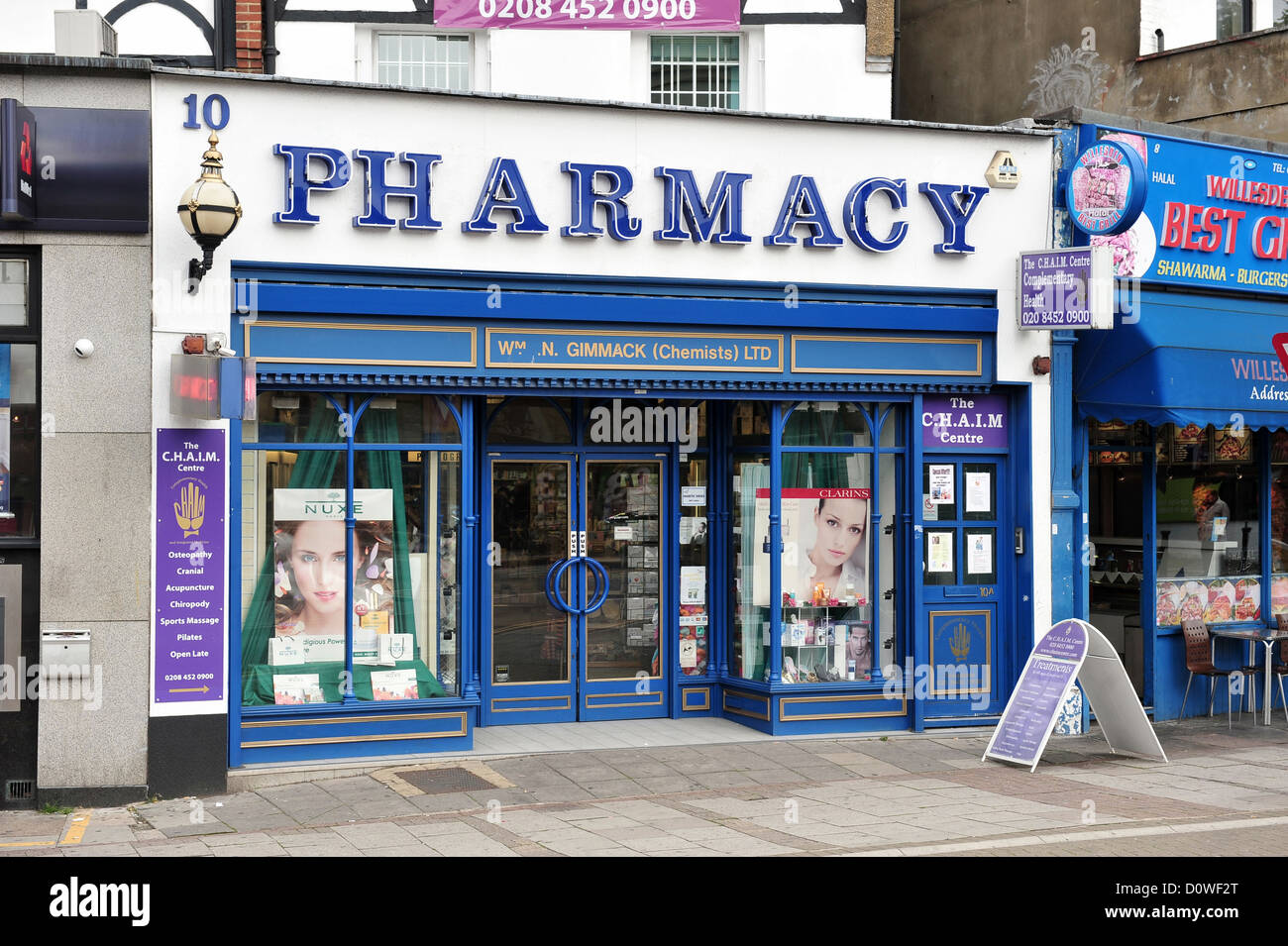 London, United Kingdom, a pharmacy in Willesden - Stock Image