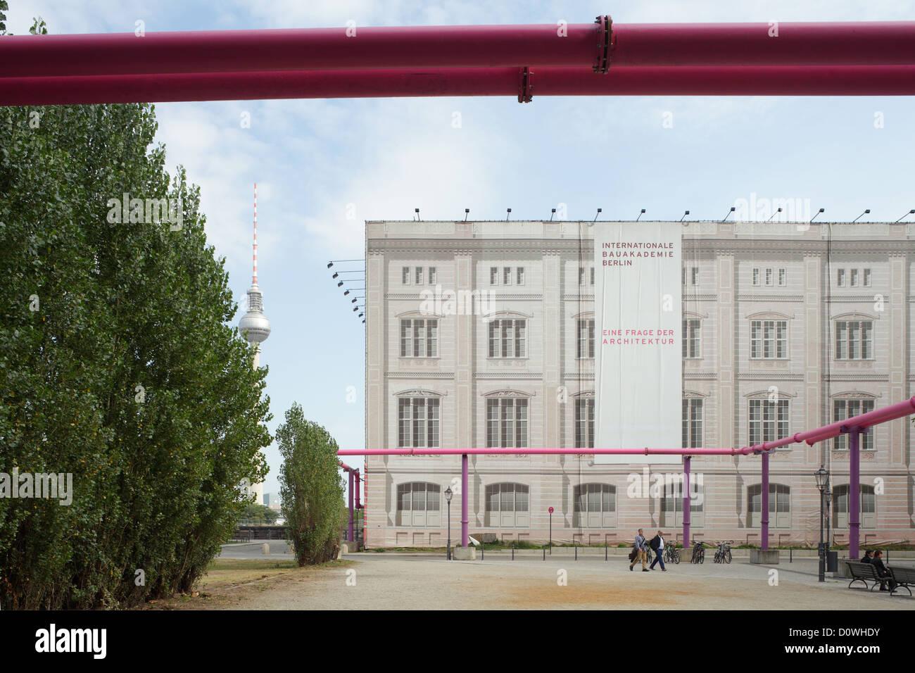 Berlin, Germany, plans to recreate the School of Architecture at Schinkelplatz - Stock Image