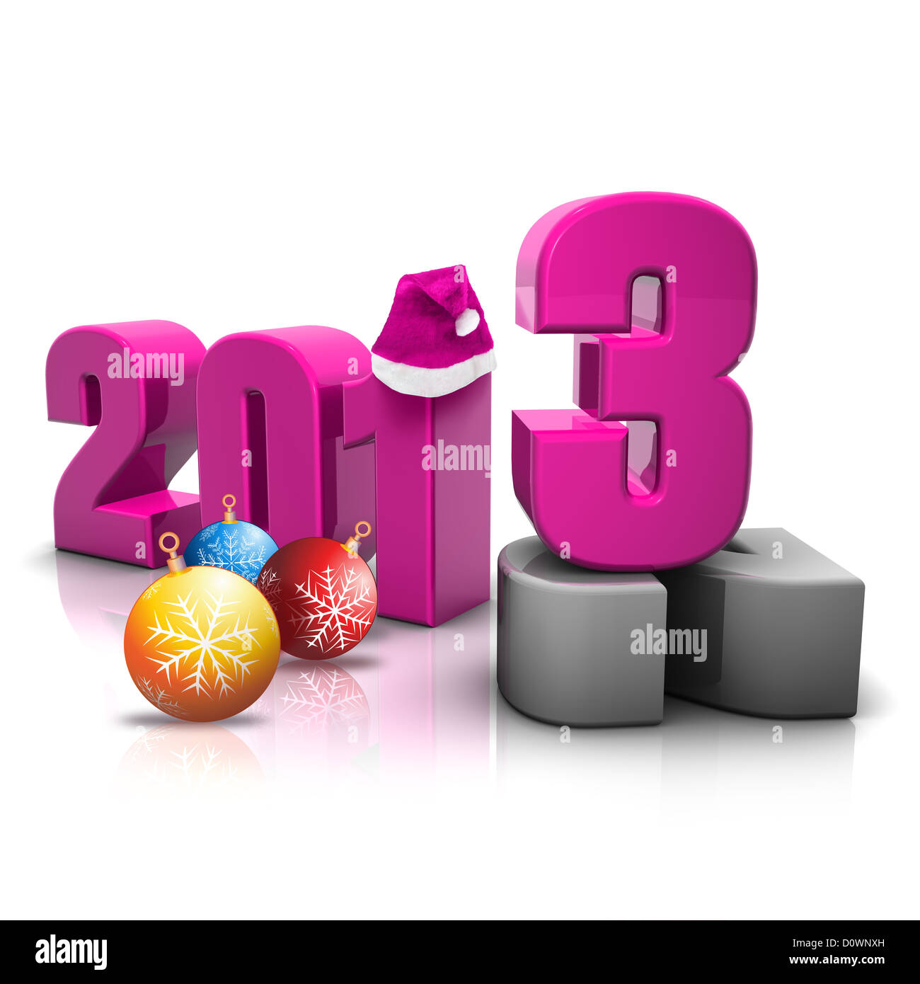 new year 2013 render - Stock Image