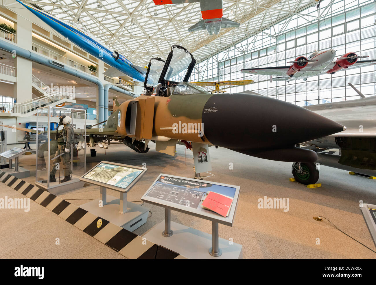 A 1965 McDonnell F-4C Phantom II fighter aircraft, The Great Gallery, Museum of Flight, Seattle, Washington, USA - Stock Image