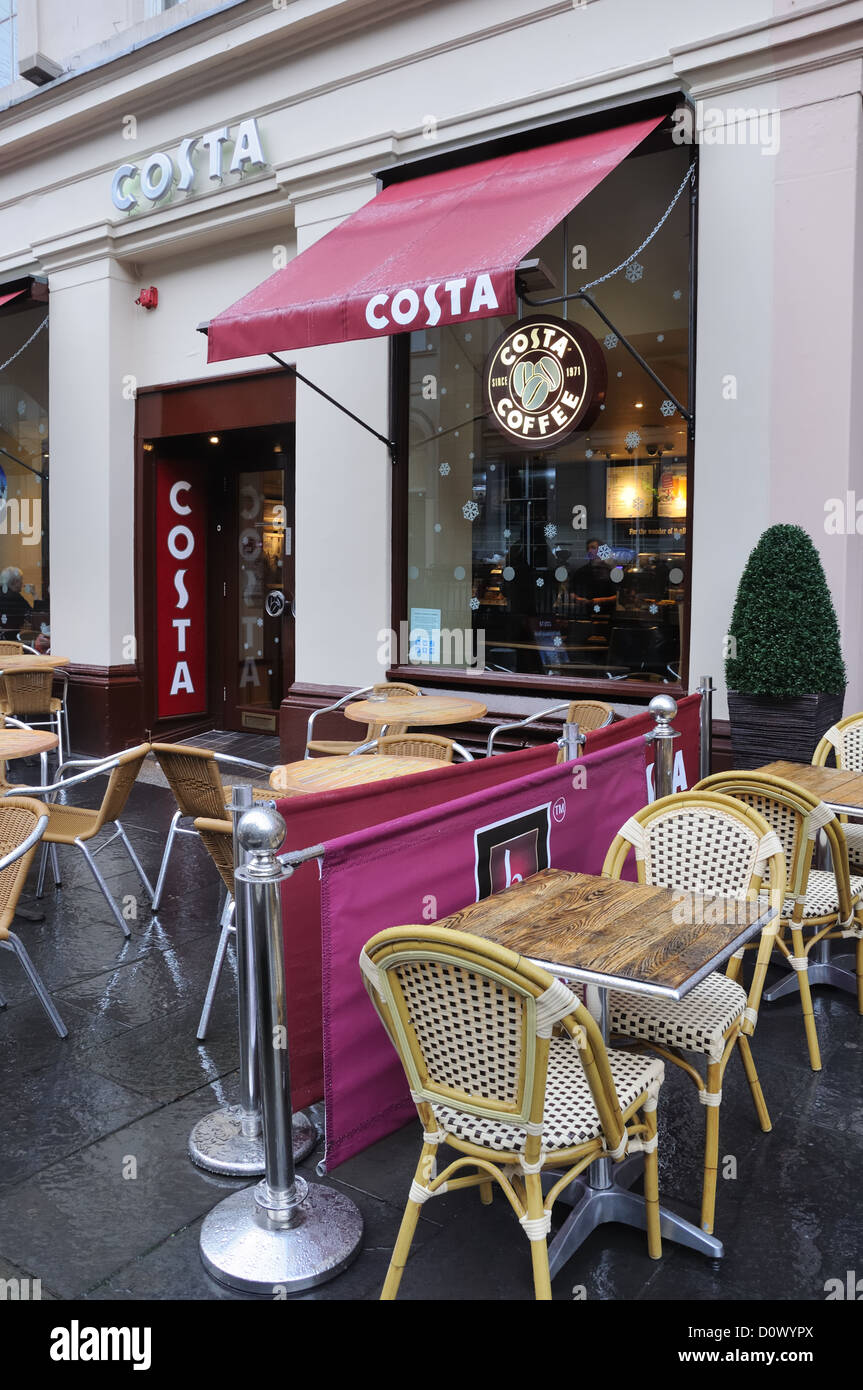 Costa Coffee Shop In Royal Exchange Square In Glasgow Stock