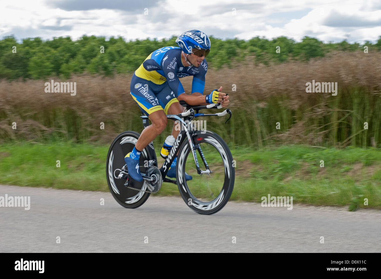 Juan Jose Haedo of Team Saxo Bank Tinkoff on the 19th Time Trial stage of  the e7efbd973