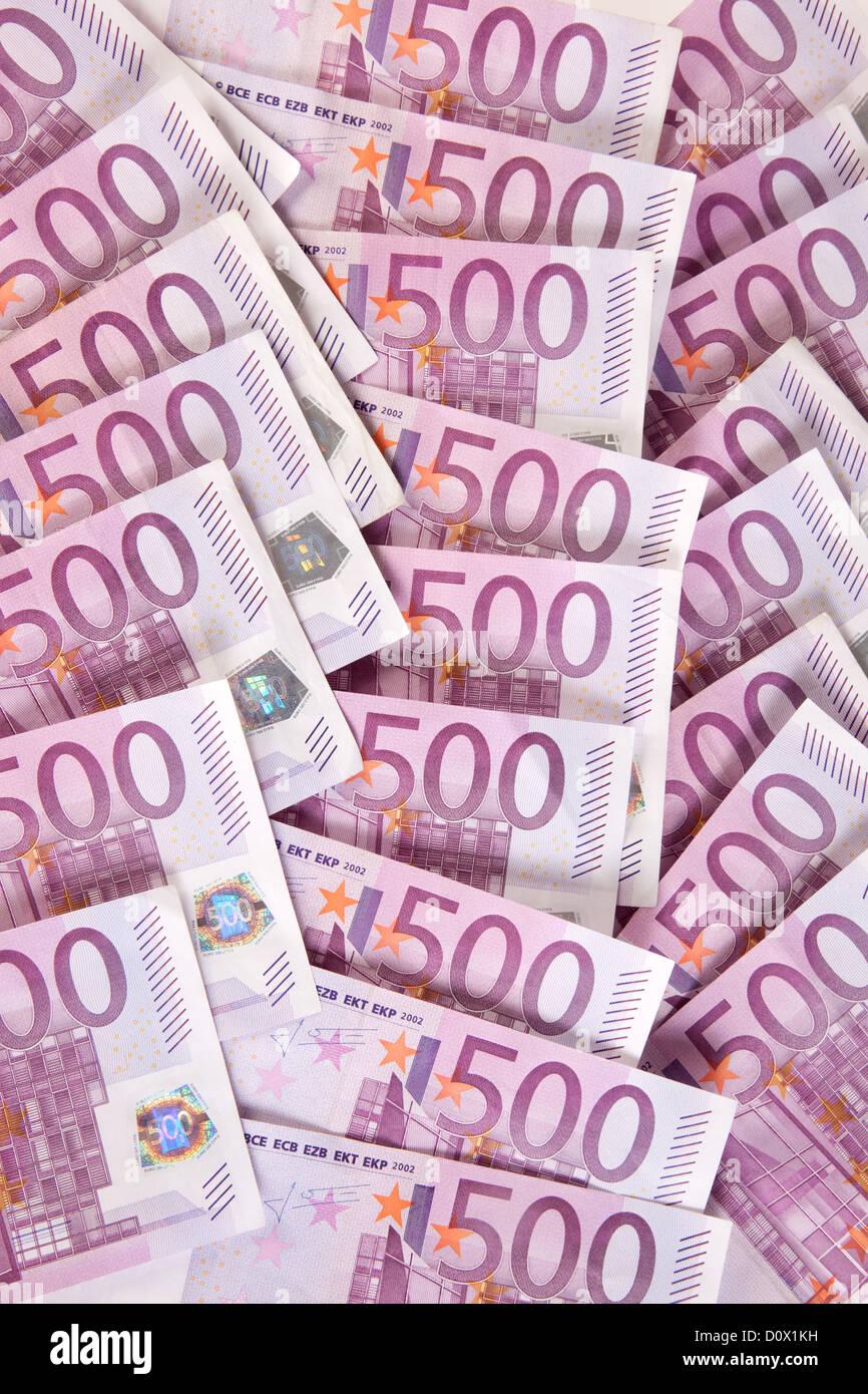 Berlin, Germany, 500-euro notes Stock Photo
