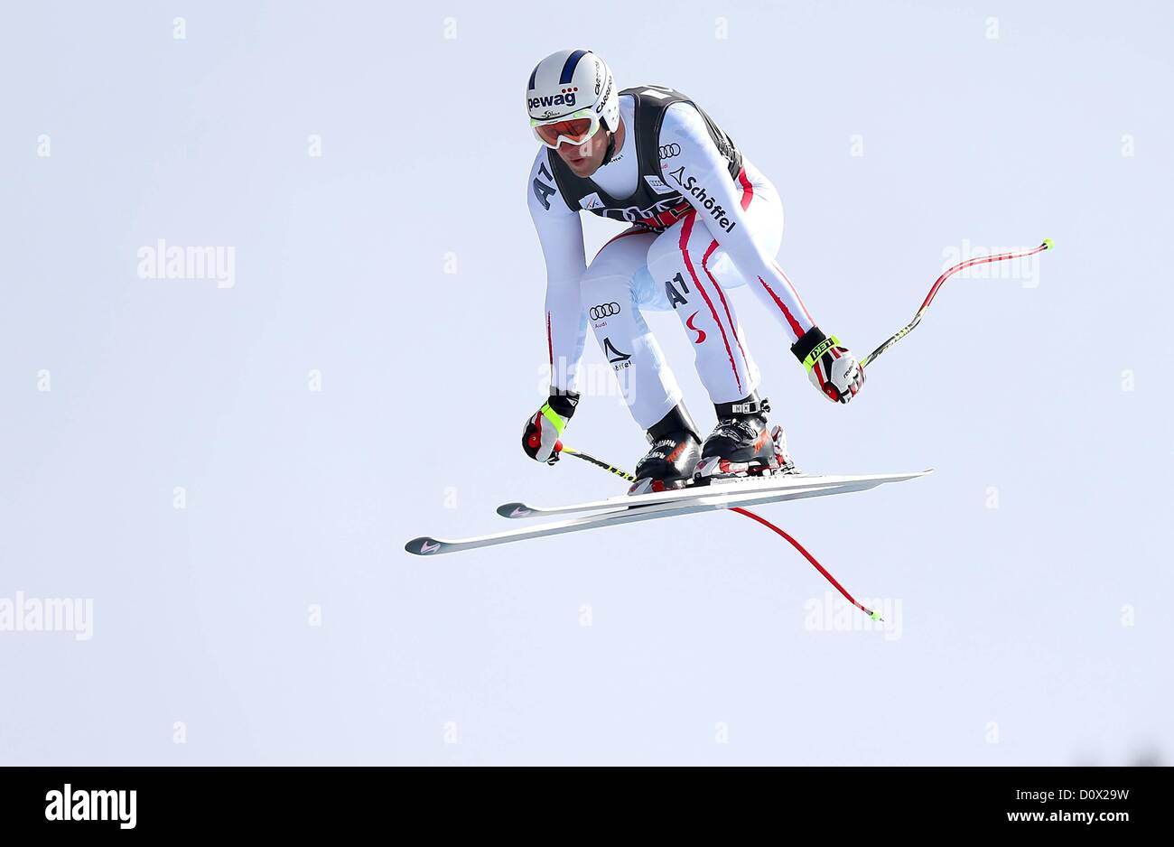 30.11.2012.  Ski Alpine FIS WC Beaver Creek Mens Downhill  Colorado USA Picture shows Romed Baumann AUT - Stock Image