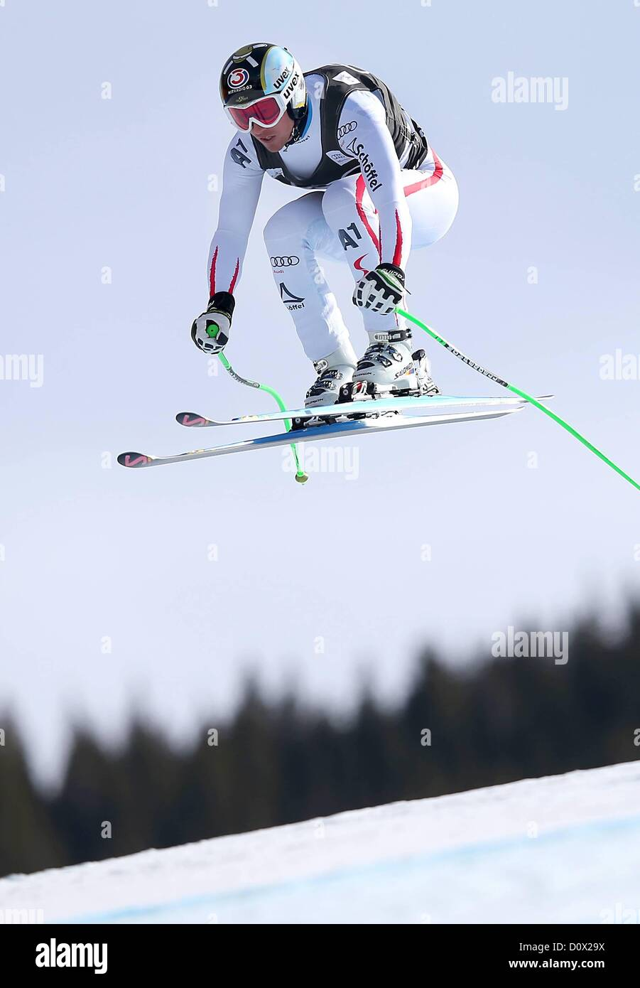 30.11.2012.  Ski Alpine FIS WC Beaver Creek Mens Downhill Colorado USA Picture shows Hannes Reichelt AUT - Stock Image