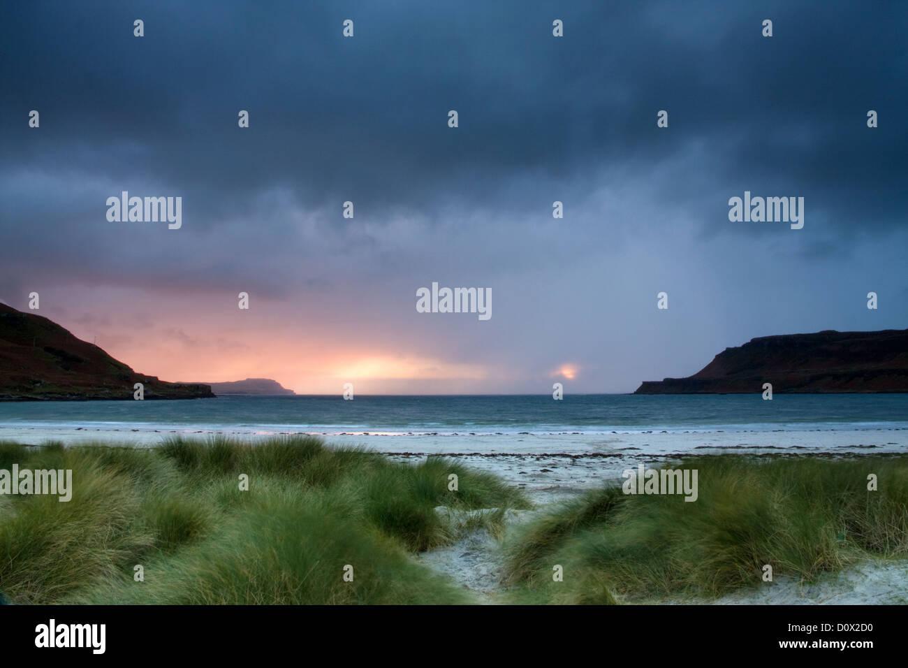 Squall, Calgary Bay, Isle of Mull - Stock Image